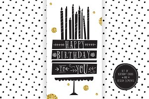 Birthday Cards and Design Elements
