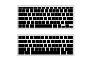 Computer Keyboard Blank Template Set