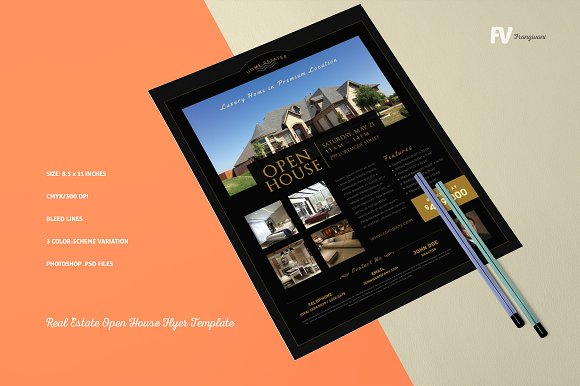 Real Estate Open House Flyer Flyer Templates Creative Market – Open House Flyers