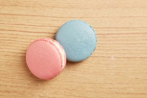 Pink And Blue Macaron