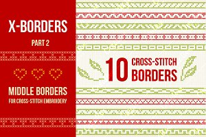 Cross-stitch borders set 2 - MIDDLE