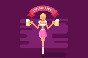 Illustration of Oktoberfest Girl