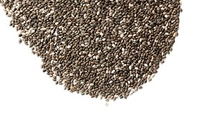 chia seeds on isolated white background
