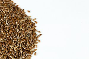 flax seed isolated on white background