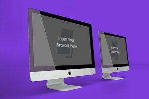 Double iMac Mockup