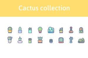 16 cactus icons