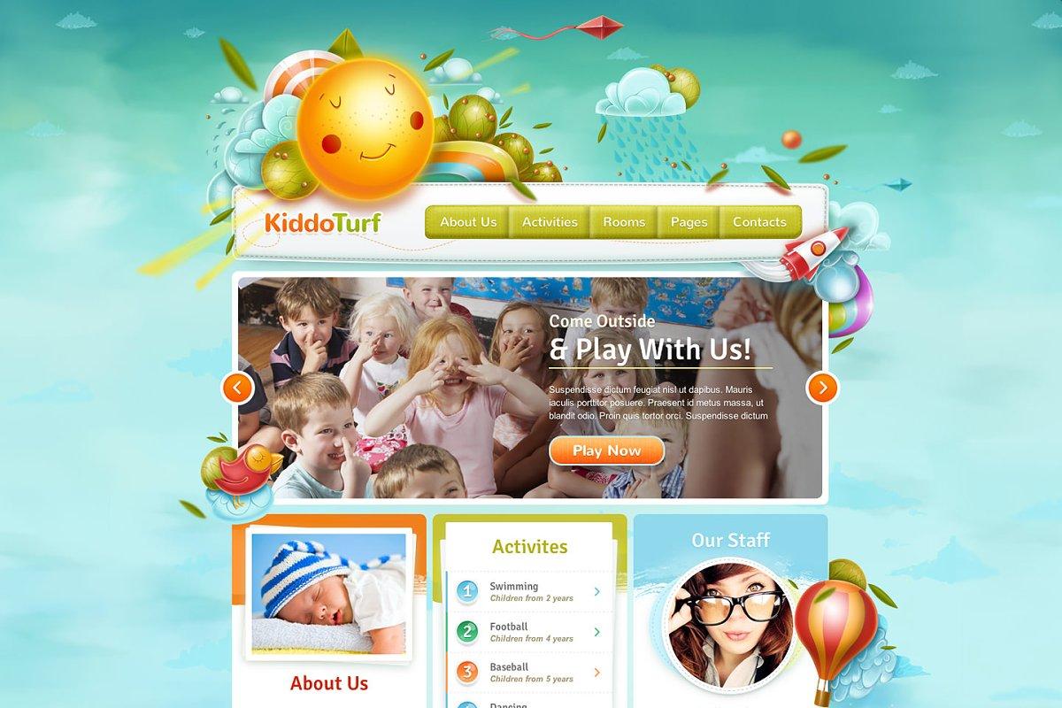 15+ Fun Kindergarten Website Templates