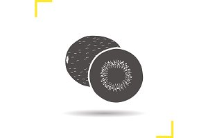 Kiwi fruit icon. Vector