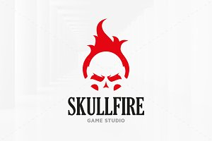 Fire Skull Logo Template