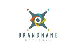 X Drone Eye Logo