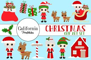 Christmas Clip Art Set