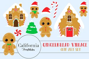 Gingerbread Village Clip Art