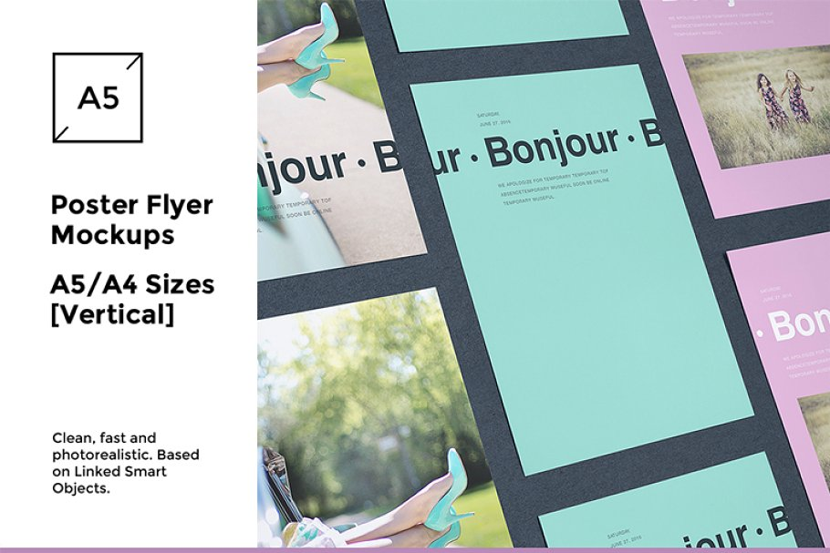 A5/A4 Flyer / Poster Mock-up's