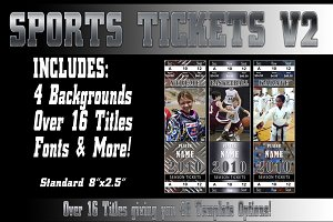 Sports Tickets V2 Photoshop Template