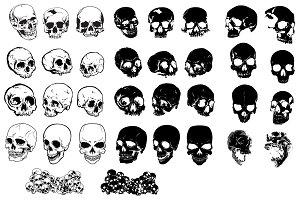 Skulls Vector Pack #2
