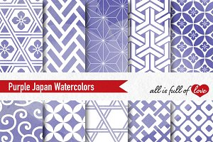 Purple Watercolor Background Pattern