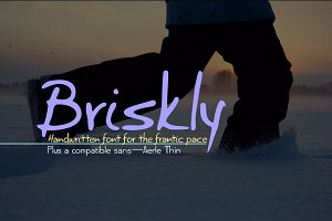 Briskly script & Aerle Thin sans