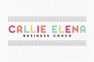 Callie Elena Premade Logo Template