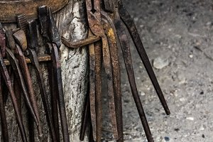 Antique Blacksmith Tools