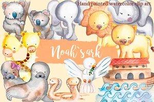 Noah´s ark -  watercolor clip art