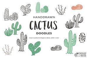 Cactus Doodle Clip Art