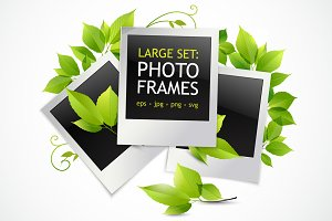 Photo frames realistic set