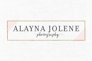 Alayna Jolene Premade Logo Template