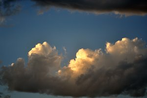 clouds, last sunbeam and storm