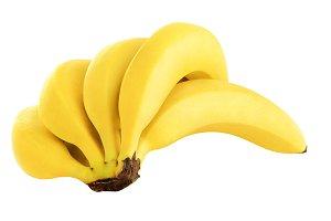 Isolated bunch of bananas