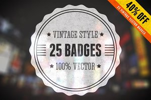 40% Off - Vintage Vector Badges Set