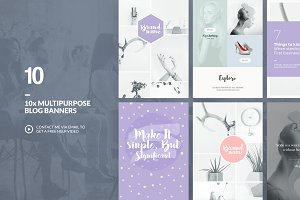 Multipurpose - Blog Banners Pack