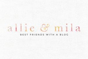 Allie & Mila Premade Logo Template