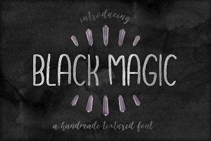 Black Magic Handmade Font