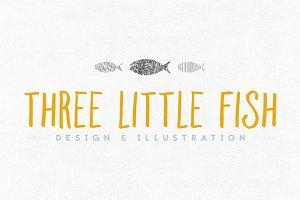 Three Little Fish Logo Template