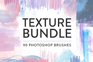 Texture Photoshop brush bundle