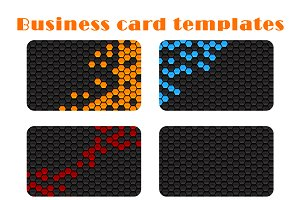 Set of gray business card templates