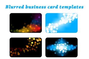 Blurred business card templates set