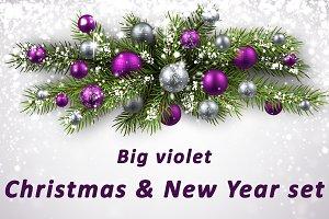 Big violet Christmas & New Year set