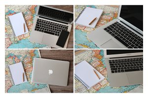 Laptop + Map Photo Pack