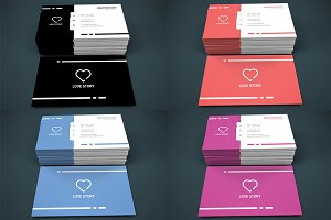 Love Story - 5 in 1 Business Card