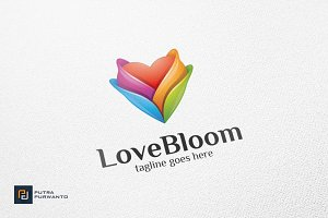 Love Bloom / Heart - Logo Template