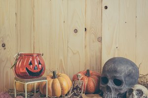 vintage tone Halloween background.