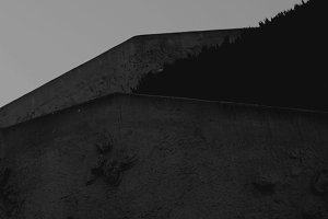 Dark and Jagged Cement Lines