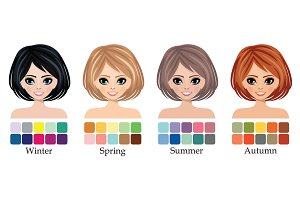 Seasonal color type of woman face