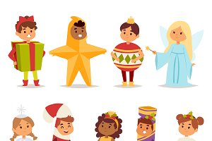 Carnival holiday costumes vector
