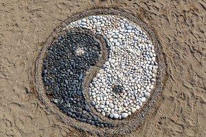 Yin and yang of stones