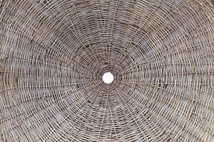 Circular wickerwork