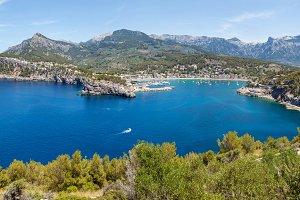 Panorama of the Mediterranean coas