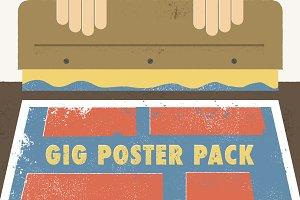 Gig Poster Pack (+2 Bonus Halftones)