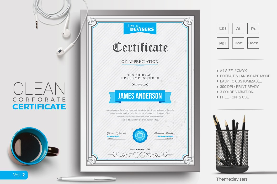 Certificate Stationery Templates Creative Market